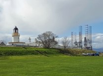 Cromarty Lighthouse and Oil Rigs