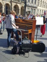A piano on the Royal Mile