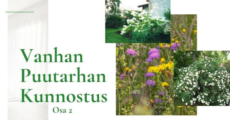 Pihaprojekti – vanhan puutarhan kunnostus, osa 2