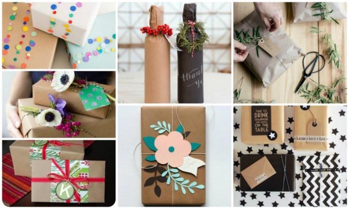 Různé způsoby balení dárků