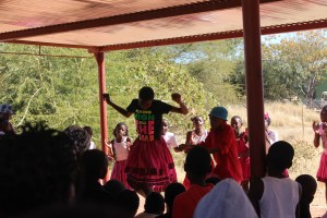 Traditional dance at the Day of the African Child