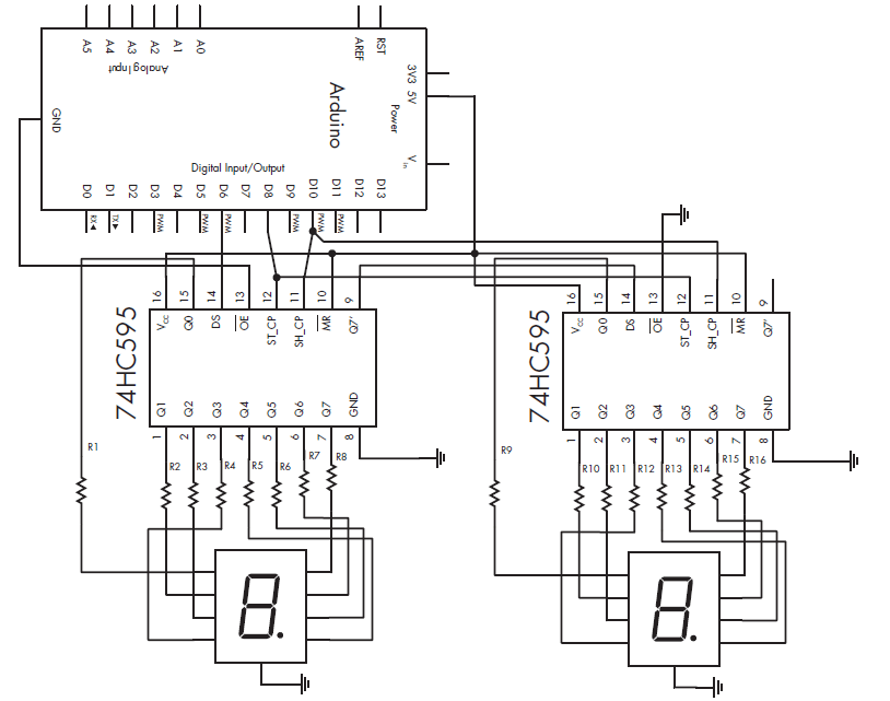 DISPLAY TWO DIGIT NUMBER ON 7 SEGMENT using Arduino » PIJA Ed