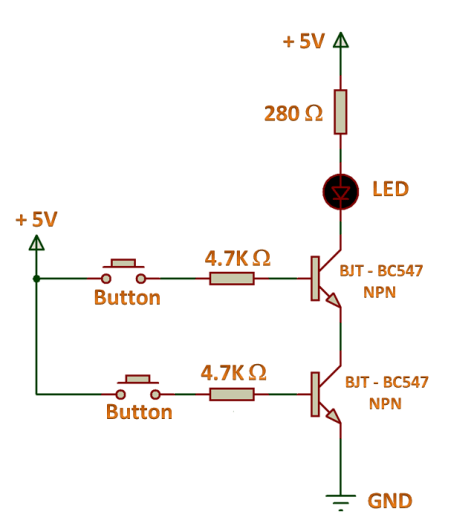 AND Gate Using NPN Transistor