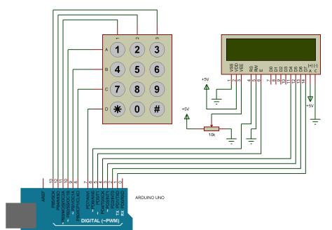 Interfacing of Keypad with Arduino
