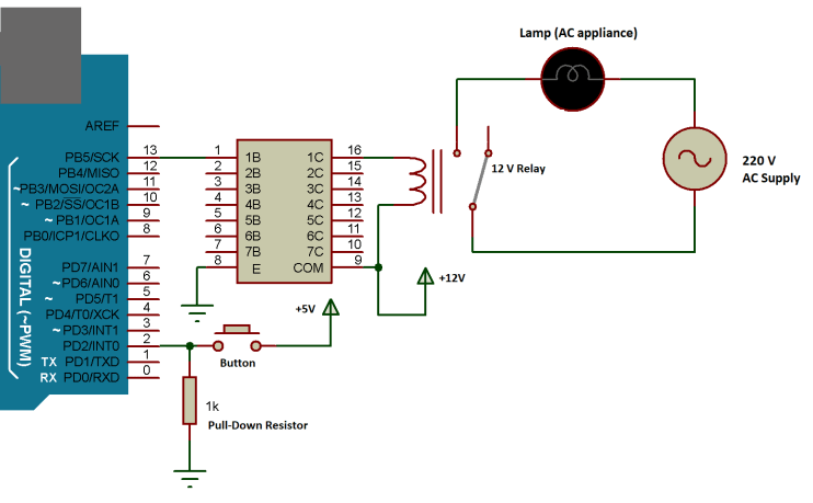 AC LOAD WITH ARDUINO AND ULN2003
