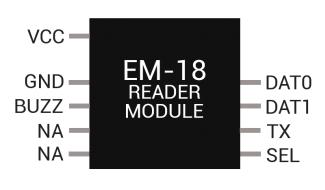 EM18 RFID READER MODULE PINOUT