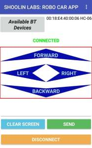 Bluetooth Robot control