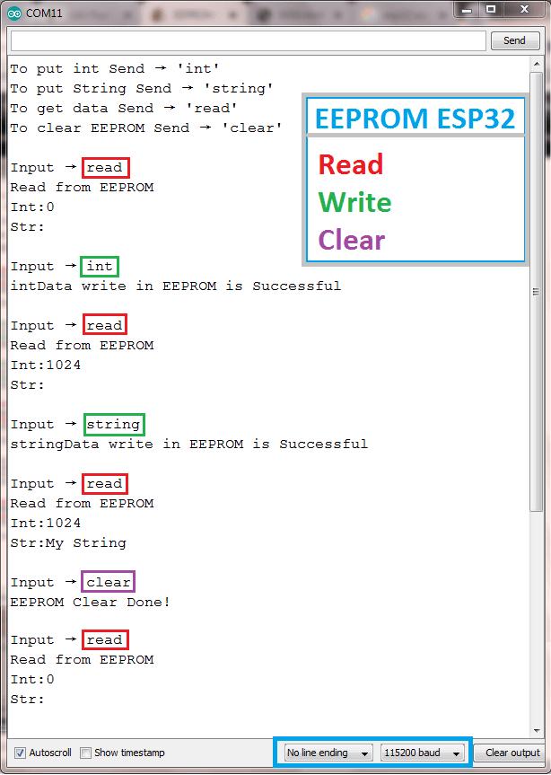 EEPROM ESP32