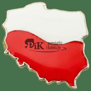 Przypinka w kształcie Polski