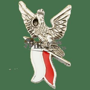 Przypinka orzeł z flagą Polski