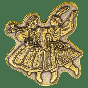 Przypinka para krakowskaj w tańcu