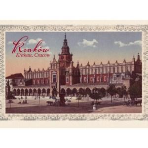Pocztówka XIX wieczny widok Sukiennic
