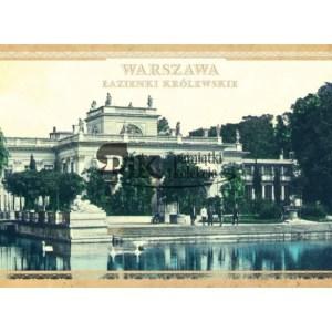 Pocztówka widok z Łazienek warszawskich Natodowy w Warszaw z XIX i XX wieku