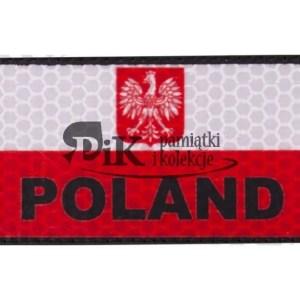 NASZYWKA FLAGA POLSKA HERB - DUŻA - biało/czerwona