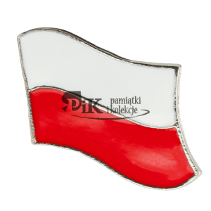 Przypinka powiewająca polska flaga
