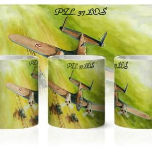 Kubek z bombowcem PZL-37 Łoś