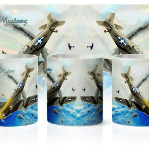 Kubek samolot P-51 Mustang myśliwiec