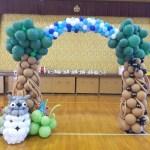 【広島】保育園の運動会で入退場門トトロのバルーンアーチ作ってみ たよ★刈田保育園