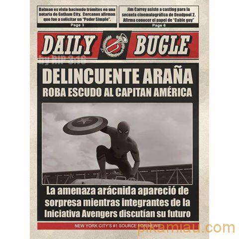 spiderman civil war roba escudo