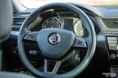Skoda Superb steering wheel