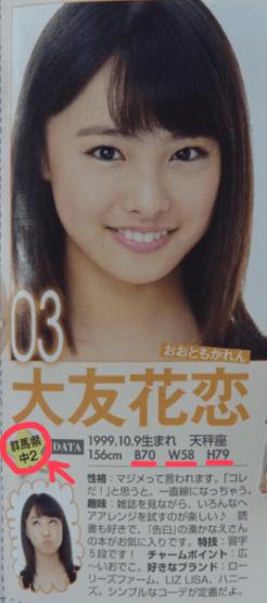 大友花恋がミスセブンティーン2013に合格した時の画像