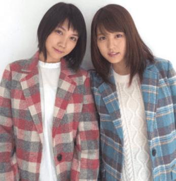 有村架純の妹分の松本穂香が同じ事務所「フラーム」の女優有村架純と一緒に双子コーデしている写真の画像