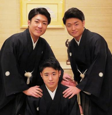 中村一家の3兄弟