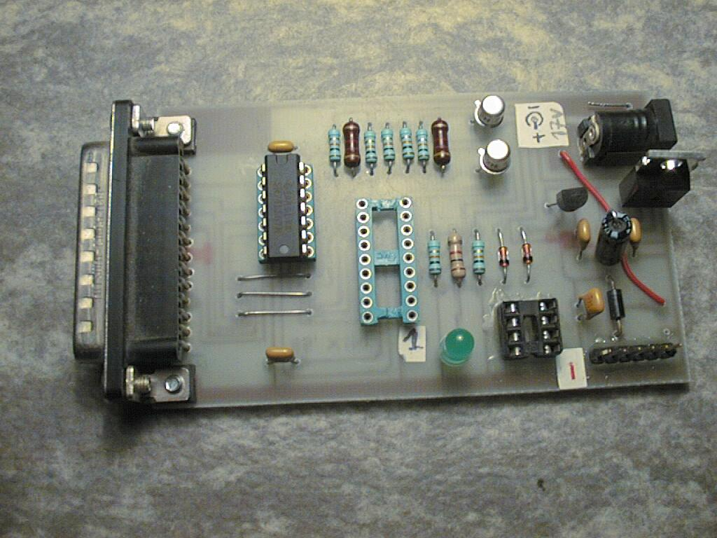 hight resolution of this is an image of my parallel port programmer the power connector has been moved from botton right to top right see copper side view