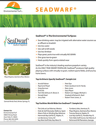 SeaDwarf® | The Environmental Turfgrass