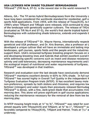 TifGrand® Press Release