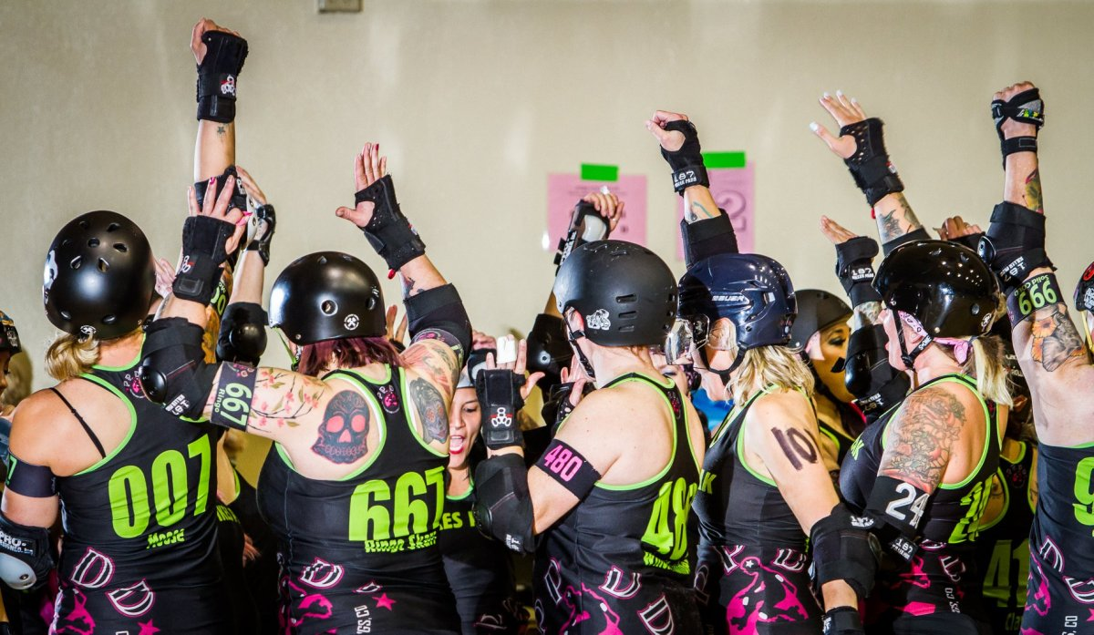 Pikes Peak Derby Dames All-Stars (Luc MacArthur Photography)