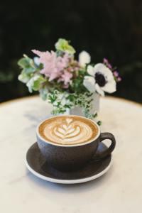Coffee shop flowers