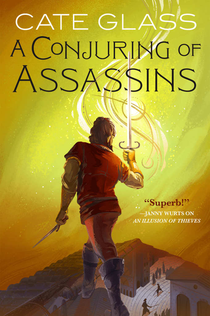 A Conjuring of Assassins, Cover, by Cate Glass