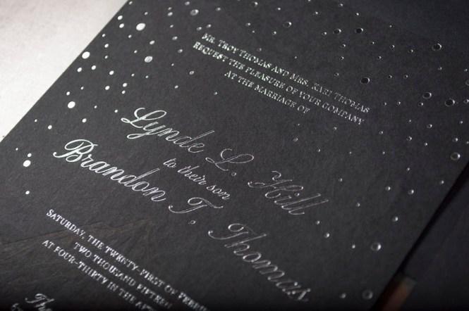 C Gold Foil Glam Wedding Invitations Alisa Bobzien2