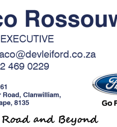 DE VLEI FORD CLANWILLIAM