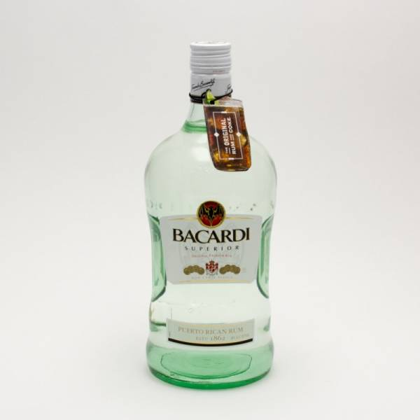 Bacardi - Superior Original Rum - 1.75L | Beer. Wine and Liquor Delivered To Your Door or business. 1 hour alcohol delivery
