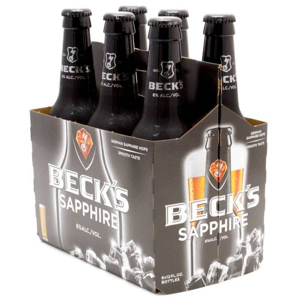 Beck39s Saphire 12oz Bottle 6 Pack Beer Wine and