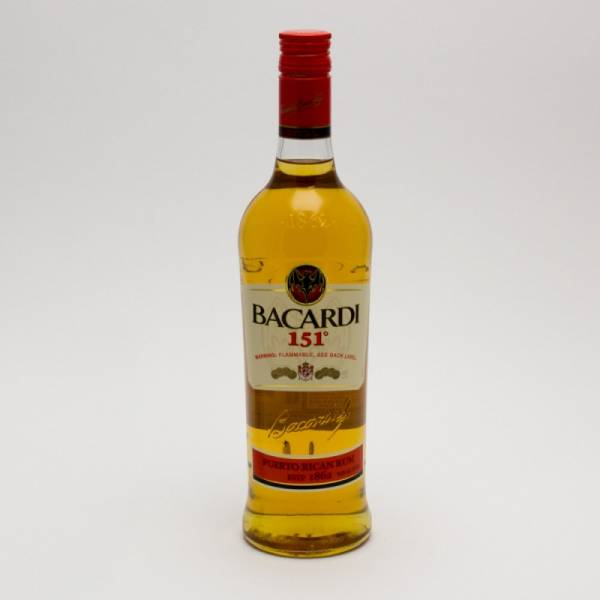 Bacardi - 151 Rum - 750ml | Beer. Wine and Liquor Delivered To Your Door or business. 1 hour alcohol delivery