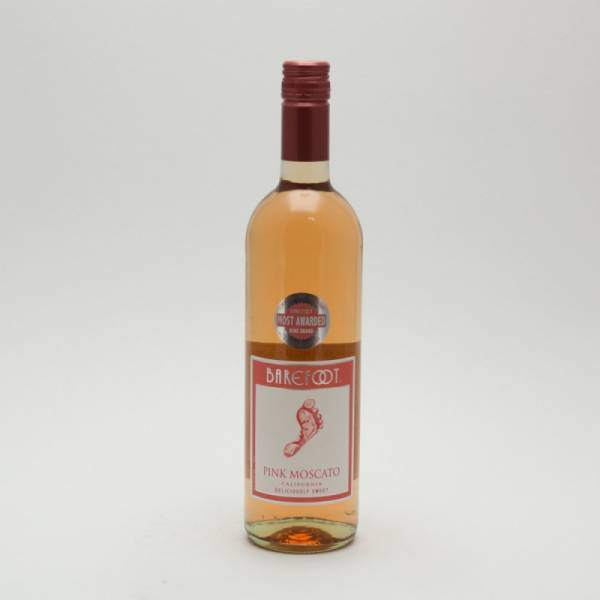 barefoot pink moscato 750ml beer wine and liquor delivered to