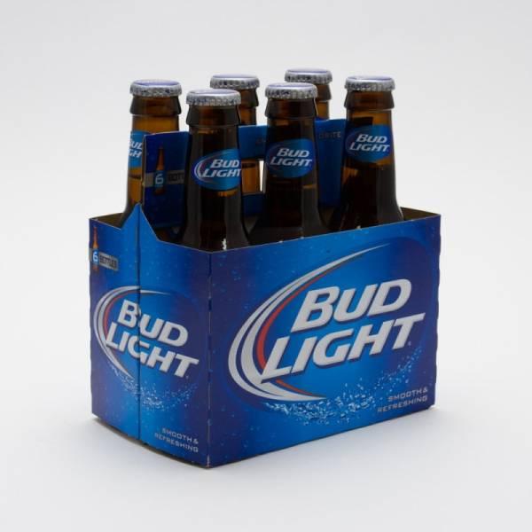 Bud Light - 7oz Bottle 6 Pack Beer Wine And Liquor Delivered Door Business. 1