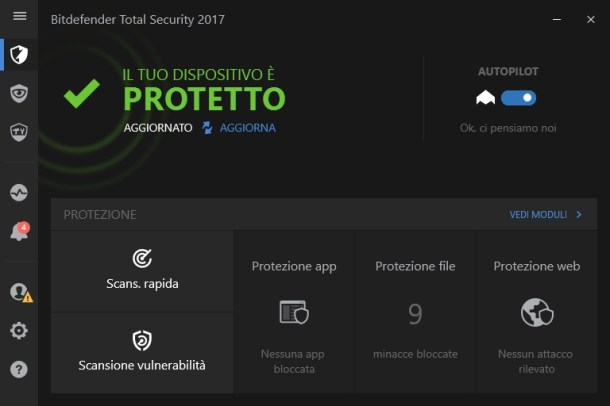 Bitdefender Total Security 2017 v21.0.23.1101 - Ita