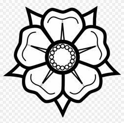 Rose Outline Png Drawing Black And White Flower Clipart #3280 PikPng
