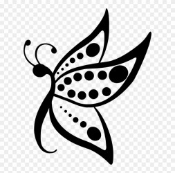 Butterfly Silhouette Visual Arts Music Download Flying Butterfly Black And White Clipart Png Download #1117125 PikPng