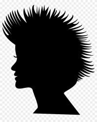 Short Hair Clipart Black And White