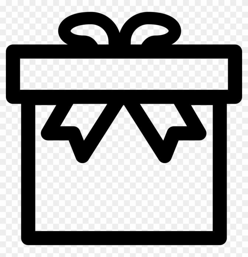 Gift Box Outline Comments - Box Png Outline, Transparent Png