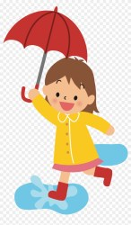 Png Transparent Library Girl Walking Clipart Girl With Umbrella Cartoon #131253 PikPng