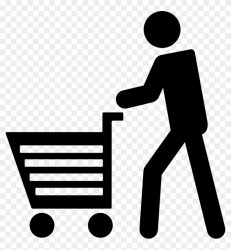 Man Walking With Shopping Cart Comments Customer Shopping Icon Png Clipart #133088 PikPng