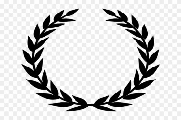 Drawn Branch Leaf Border Png Laurel Wreath Black And White Clipart #148993 PikPng