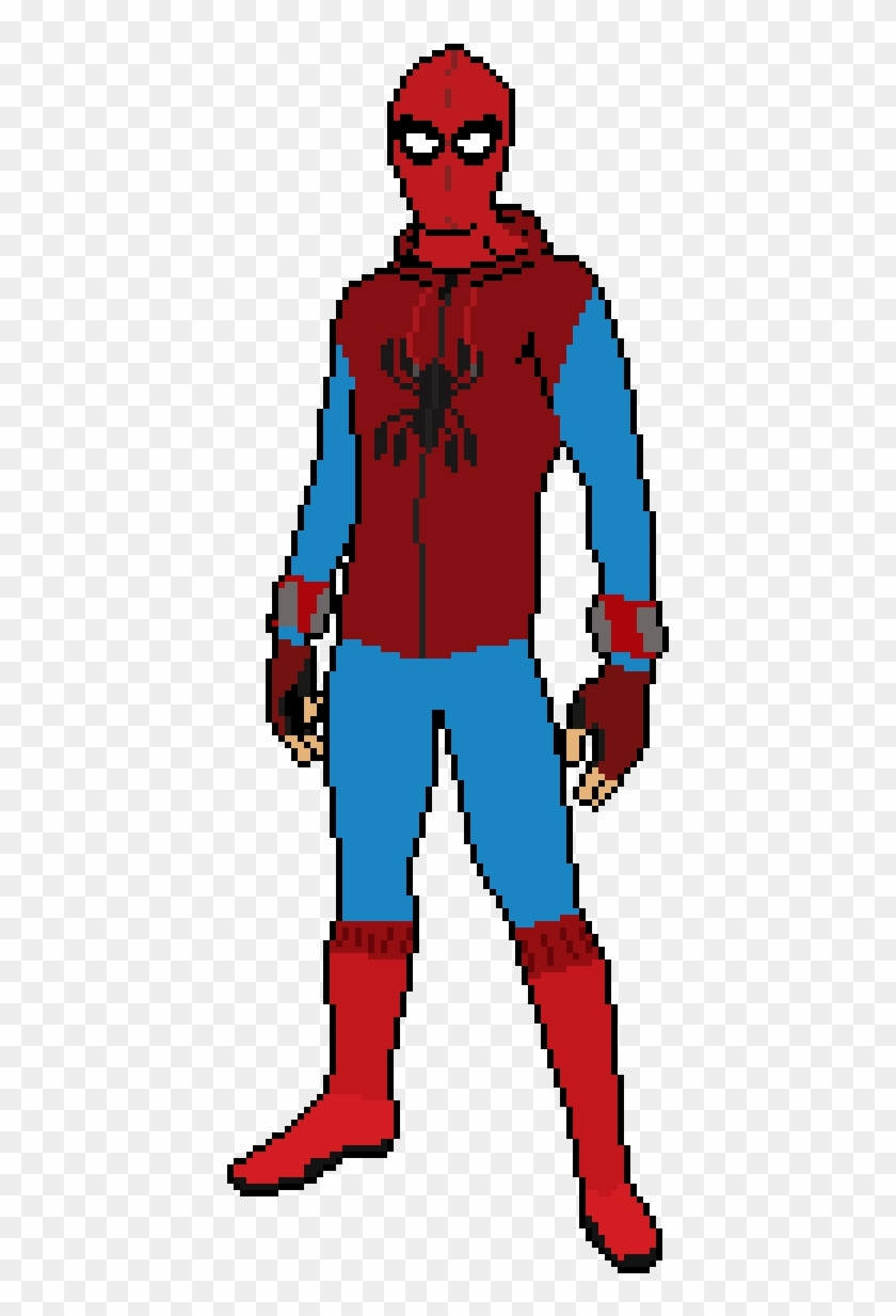 Spider Man Suit Drawing : spider, drawing, Spider, Homecoming, Homemade, Drawing, Spiderman, Clipart, (#1730136), PikPng