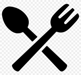 Food Png Black Spoon And Fork Vector Png Clipart #1808946 PikPng